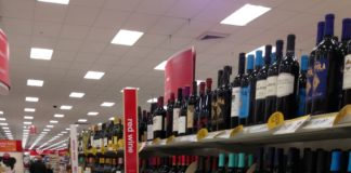 Wine Aisle at a California Target