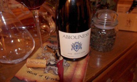 Drinkin' Smoke – 2005 Abiouness Pinot Noir