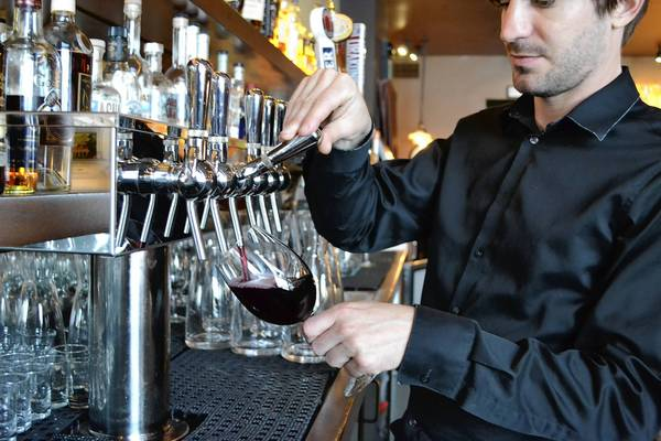 Wine on Tap. Photo from Orlando Sentinel