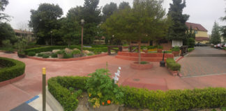 The grounds at the Paso Robles Inn