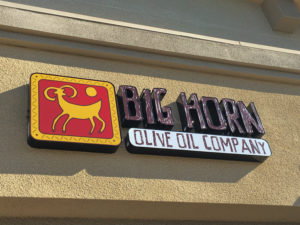 Big Horn Olive Oil Company Store Sign