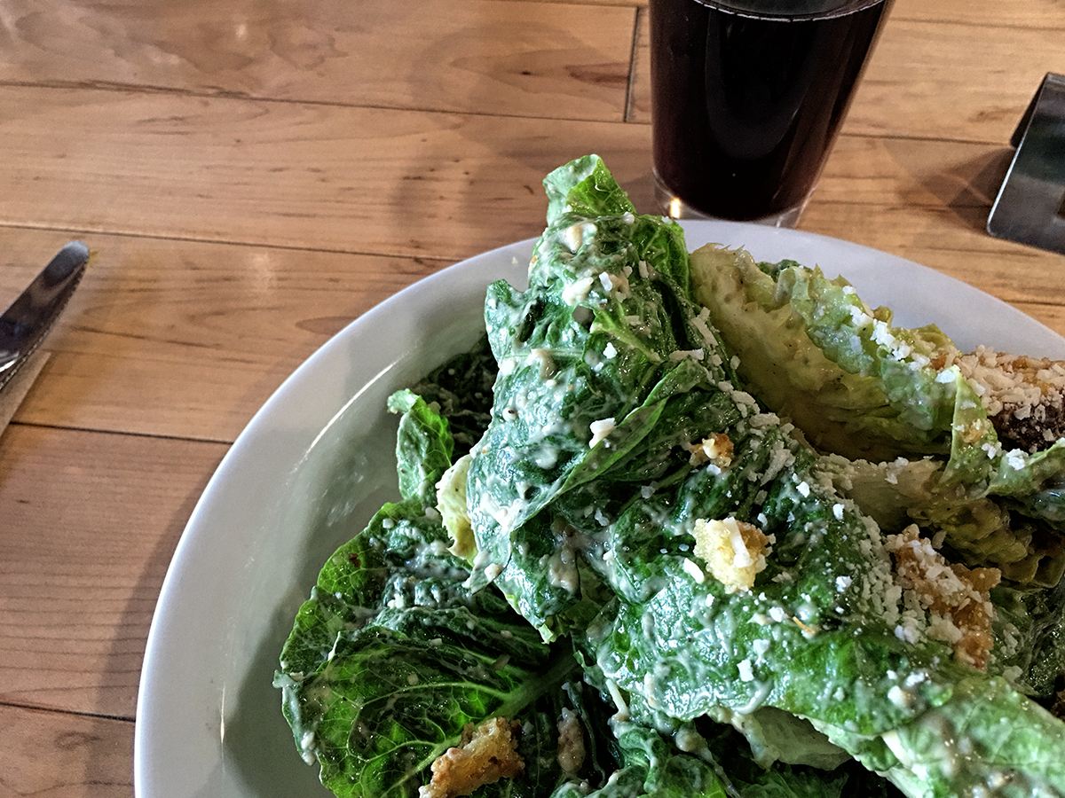 Garlicky delicious Caesar Salad. Yum at the highest level