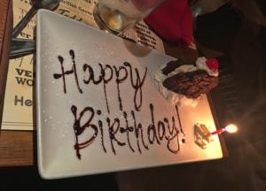 Birthday Cake at Todd English at the Aria.