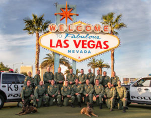 LVMPD k9 at the sign