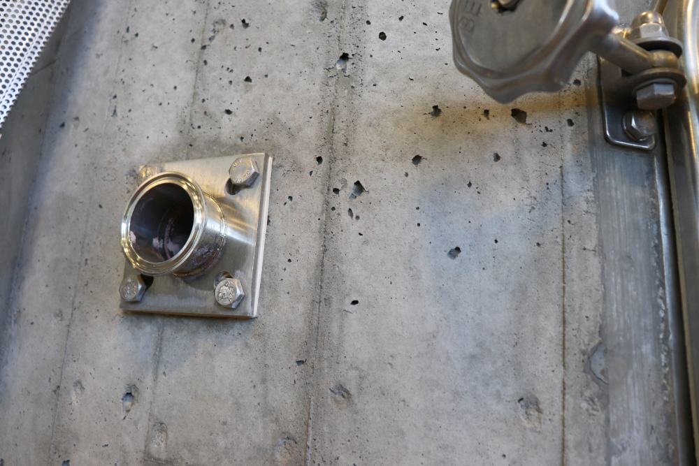Closeup of Concrete Tank Expterior