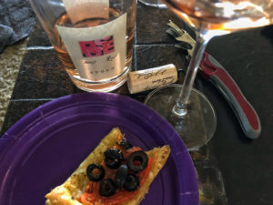 """Epoch 2017 Rosé and Phyllo """"Pizza."""""""