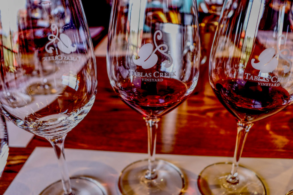 Tablas Creek Tasting glasses 14