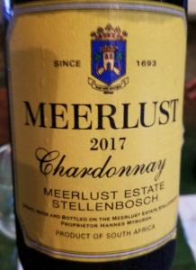 Meerlust 2017 Chardonnay