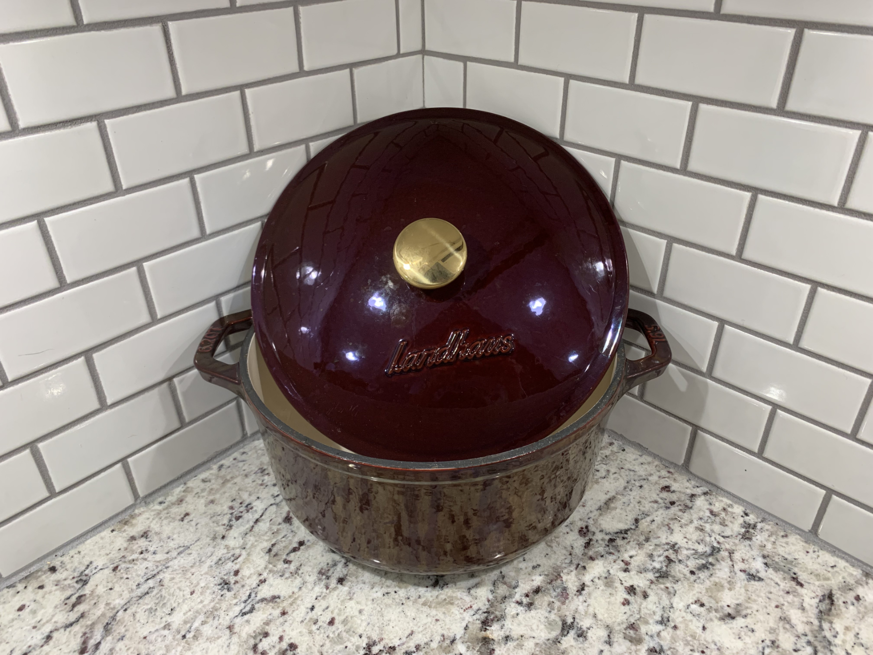 My Landhaus Dutch Oven - I don't know why it looks purple, but it isn't!