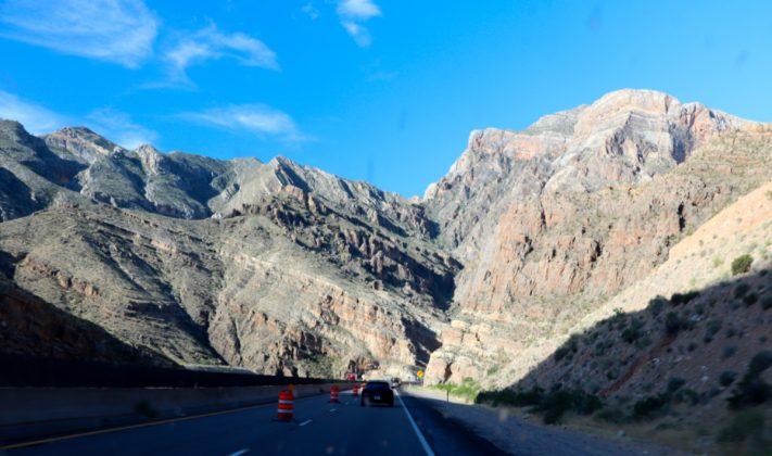 The Virgin River Gorge in Arizona back to Nevada