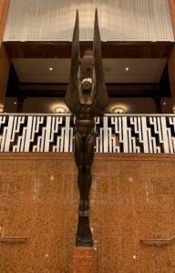 Art Deco Statue in The Smith Center